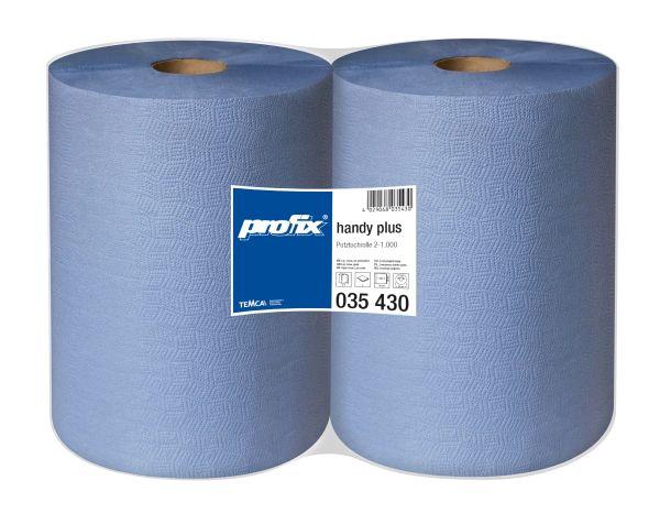 Putztuchrolle, blau, 2-lagig