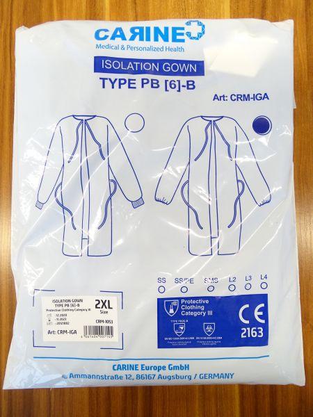 Schutzkittel CRM-IGA - EN14126 - VE=80 Stück