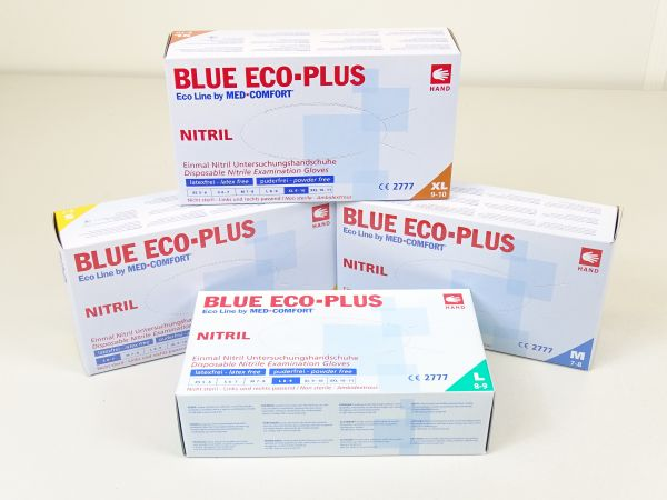 Blue Eco Plus Nitrilhandschuhe, blau