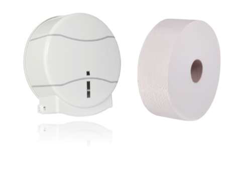 """Jumbo-Toilettenpapier & Rollenhalter """"Startercombo"""""""