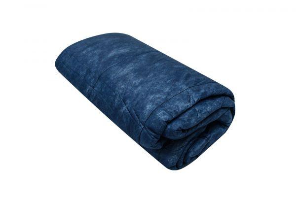 Einmaldecken - blau mit Baumwollfüllung, 300g