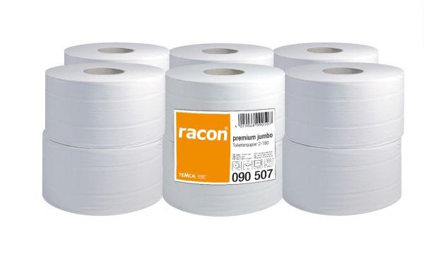 Jumbo Toilettenpapier, premium, hochweiß 2-lagig